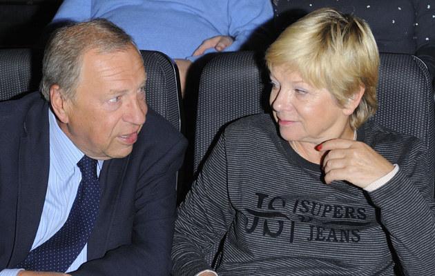 Jerzy Stuhr z żoną /- /MWMedia