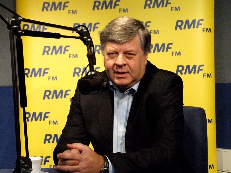Jerzy Szmajdziński w studiu RMF FM  /Fot. Olga Wasilewska /RMF FM