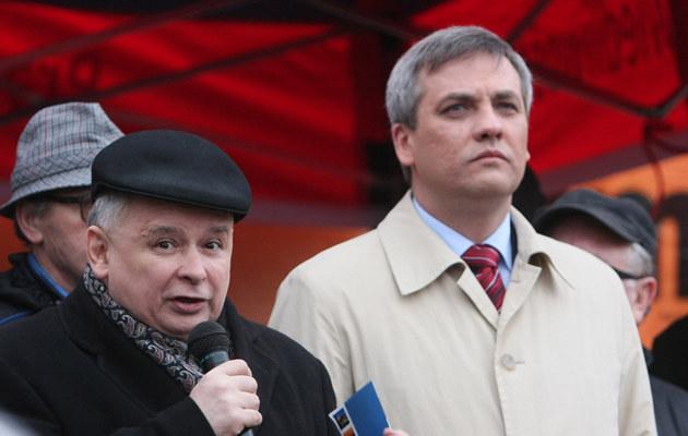 Jerzy Szmit z Jarosławem Kaczyńskim w Olsztynie /Tomasz Radzik /East News