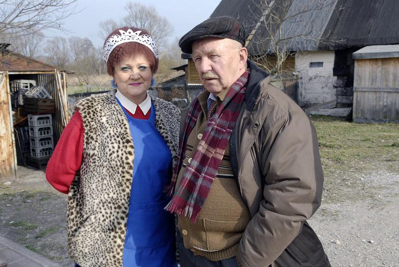 """Jerzy Turek na planie """"Złotopolskich, 2008 rok /Mikulski /AKPA"""
