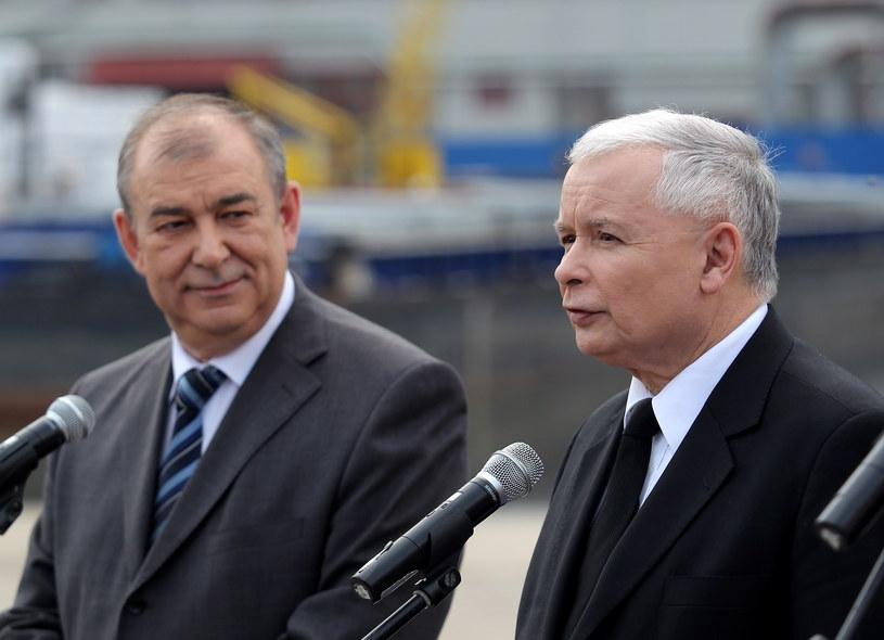 Jerzy Wilk i Jarosław Kaczyński /Tomasz Waszczuk /PAP