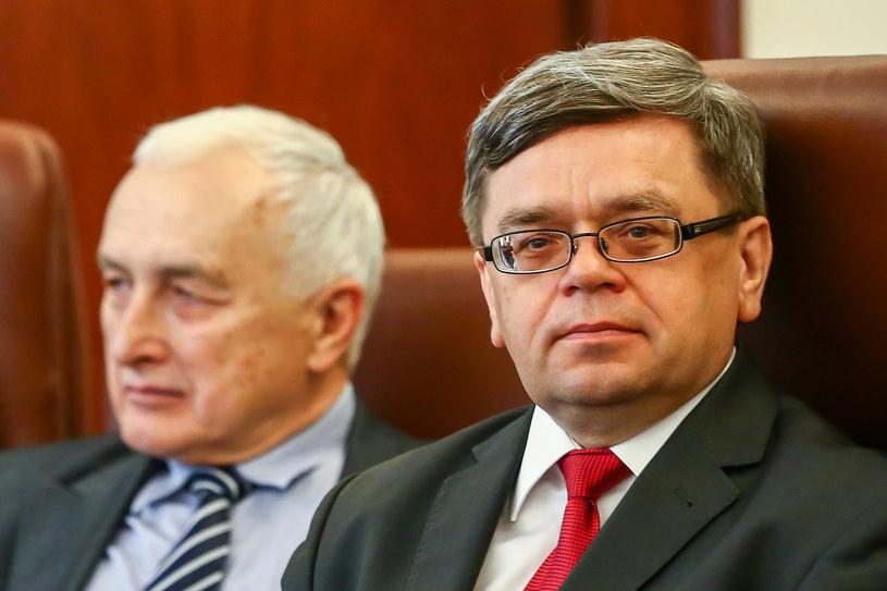 Jerzy Żyżynski (L), Eugeniusz Gatnar - członkowie RPP /KAROL SEREWIS /Getty Images