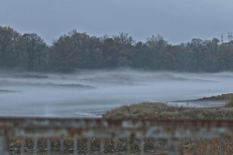 Jesienna mgła nad Odrą w Cigacicach koło Zielonej Góry /Piotr Jędzura /Reporter