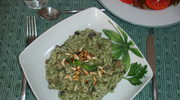 Jesienne risotto z grzybami i z pesto