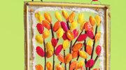 Jesienny kolaż z pestek dyni