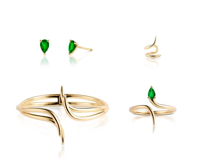Jeśli szukasz eleganckiego wzoru, warto rozglądnąć się za dodatkami z motywem węża w zjawiskowych, szmaragdowych odcieniach /materiały promocyjne