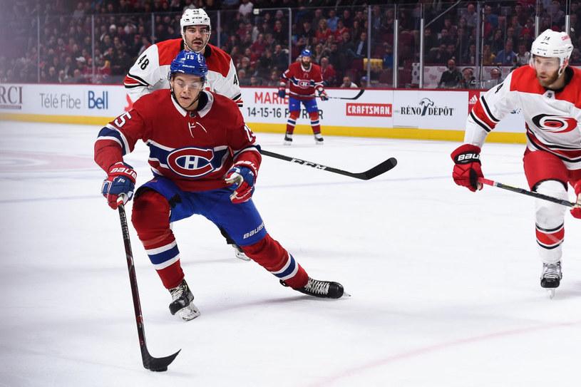 Jesperi Kotkaniemi w barwach Montreal Canadiens przeciwko Carolina Hurricanes /Kirouac /Getty Images
