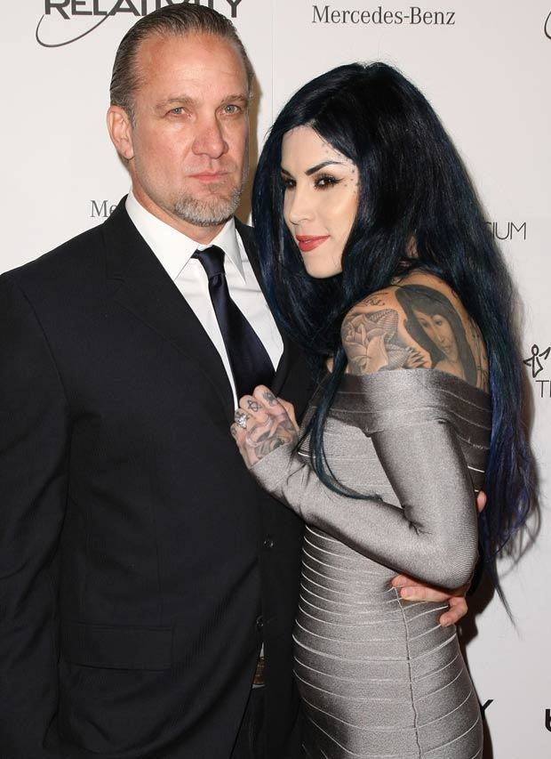 Jesse James i Kat von D., fot. Neilson Barnard   /Getty Images/Flash Press Media