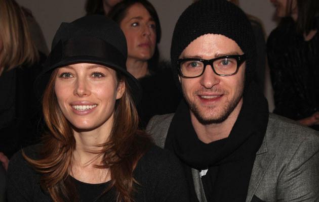 Jessica Biel i Justin Timberlake, fot. Astrid Stawiarz  /Getty Images/Flash Press Media