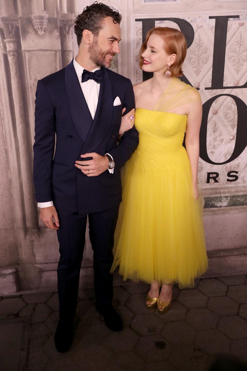 Jessica Chastain z mężem /Rob Kim /Getty Images