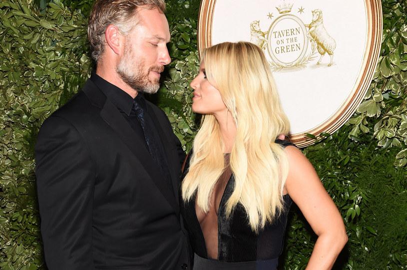 Jessica Simpson z mężem /Jamie McCarthy /Getty Images