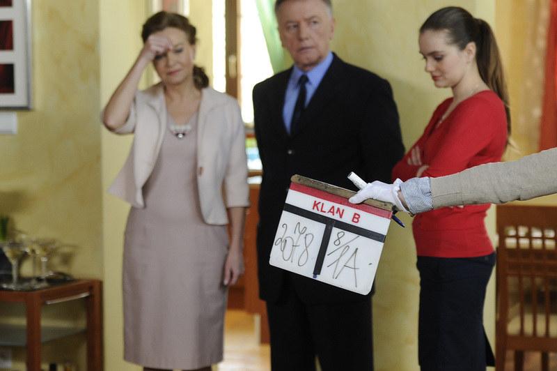 """Jest bizneswoman nie tylko w """"Klanie"""". Na zdjęciu z Markiem Lewandowskim i Marią Niklińską. /Niemiec /AKPA"""
