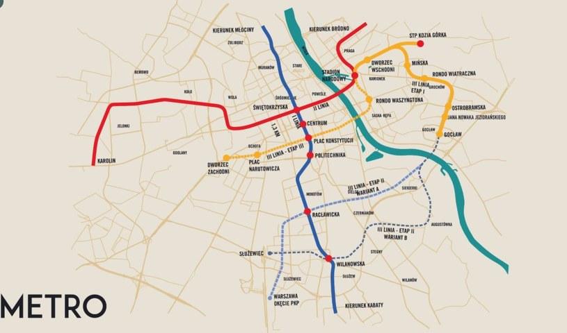 Jest decyzja o rozpoczęciu budowy III linii metra /Twitter