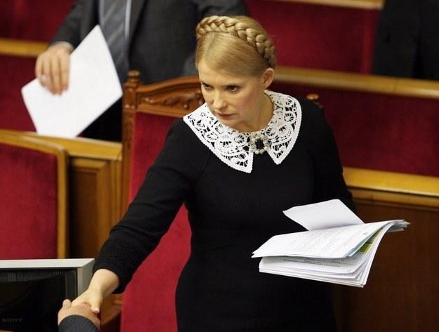 Jest mało prawdopodobnym aby oświadczenie zostało wydane bez zgody Tymoszenko /AFP
