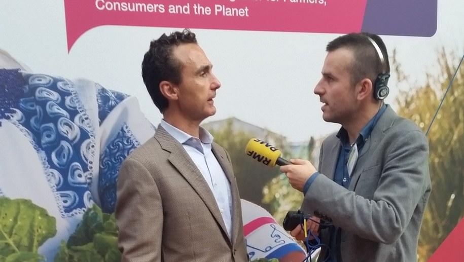 Jesus Madrazo w rozmowie z reporterem RMF FM Michałem Dobrołowiczem /RMF FM /RMF FM