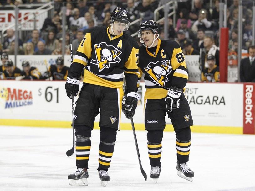 Jewgienij Małkin i Sidney Crosby to czołowe gwiazdy Pittsburgh Penguins i całej NHL. /AFP
