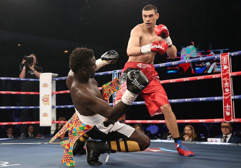 Jewgienij Tiszczenko w walce z Abrahamem Tabulem /Donat Sorokin /Getty Images