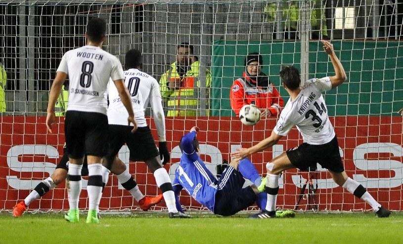 Jewhen Konoplianka strzelił czwartego gola dla Schalke /PAP/EPA
