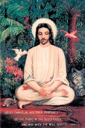 Jezus w pozie jogina /Archiwum
