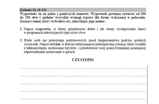 Język angielski poziom rozszerzony /INTERIA.PL