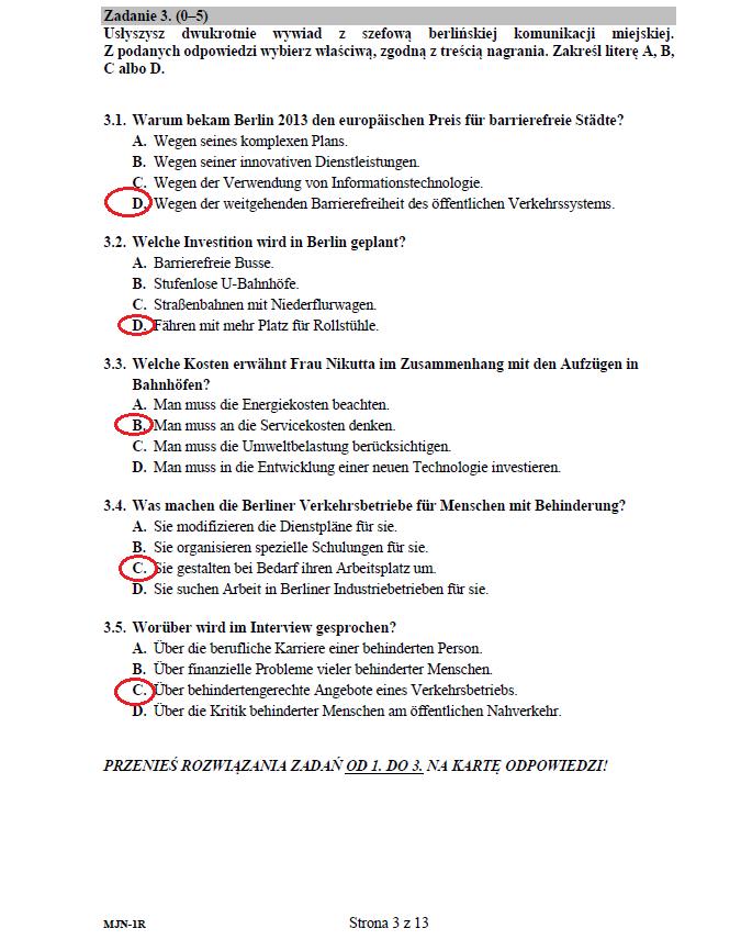 list j niemiecki pisanie