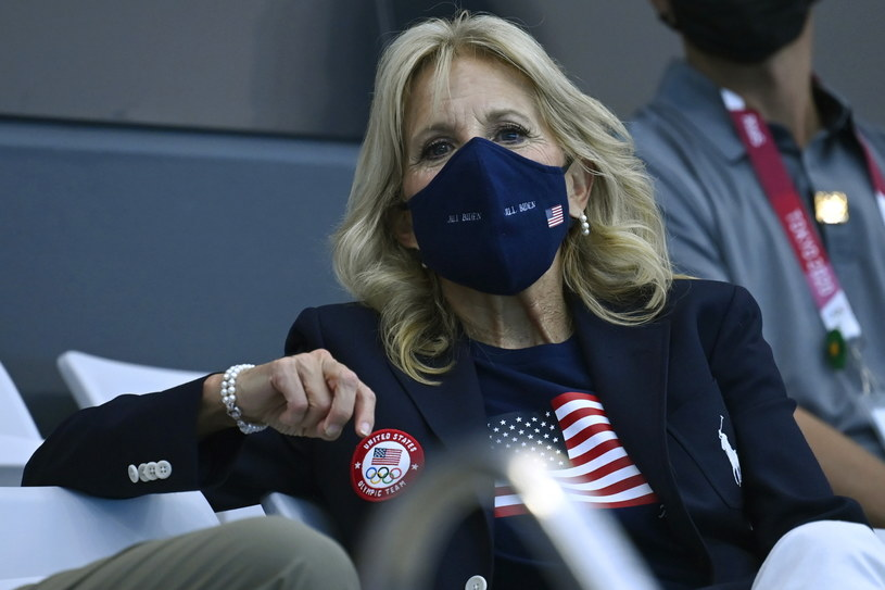 Jill Biden ogląda zmagania olimpijskie w Tokio /TAMAS KOVACS   /PAP/EPA
