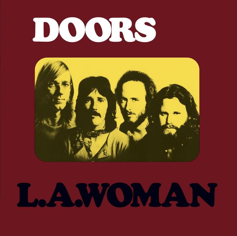 """Jim Morrison pierwszy z prawej na okładce płyty """"L.A. Woman"""" /"""