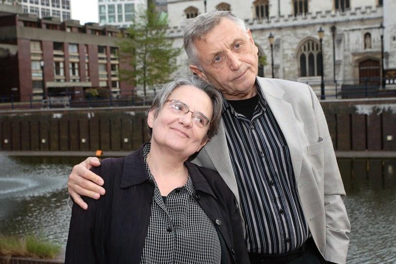 Jiri Menzel przyjaźnił się z polskimi twórcami. Na zdjęciu z Agnieszką Holland na Polish Film Festiwal w Londynie (2008) /Piotr Apolinarski /Agencja FORUM