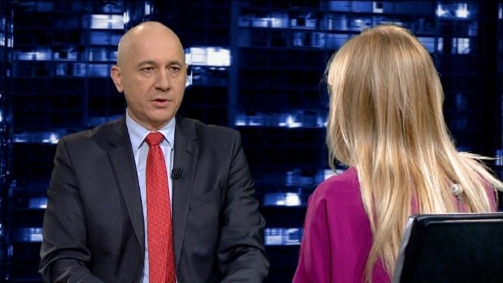 Joachim Brudziński był gościem Moniki Olejnik /TVN24/x-news