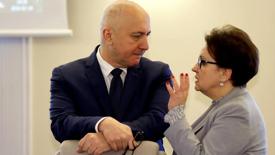 Joachim Brudziński i Anna Zalewska /Rafał Guz /PAP