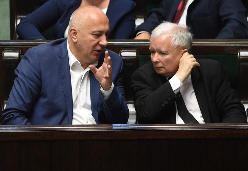 Joachim Brudziński i Jarosław Kaczyński /Adam Chelstowski /Agencja FORUM