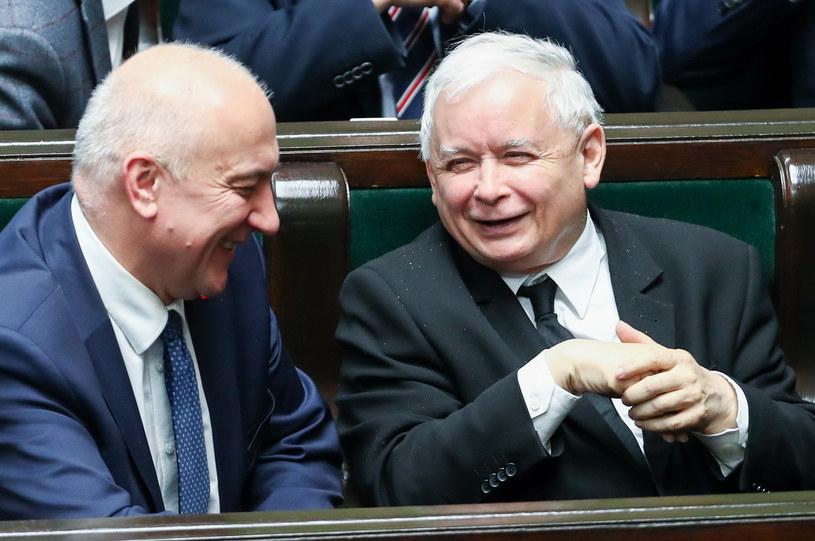 Joachim Brudziński i Jarosław Kaczyński /Andrzej Iwańczuk /Reporter