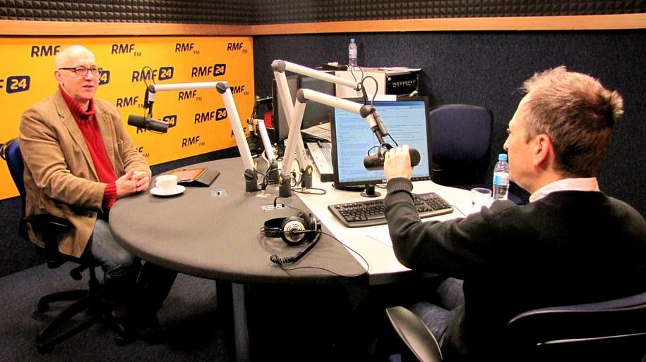 Joachim Brudziński i Konrad Piasecki /Magdalena Jednacz /RMF FM