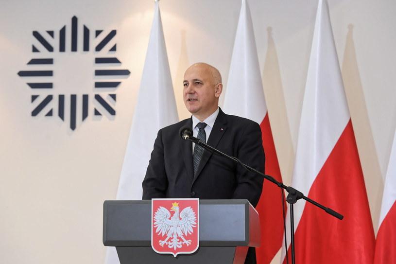Joachim Brudziński podczas odprawy z szefami służb oraz komendantami z województwa łódzkiego /Grzegorz Michałowski   /PAP