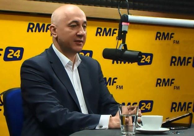 Joachim Brudziński w studiu RMF FM /RMF