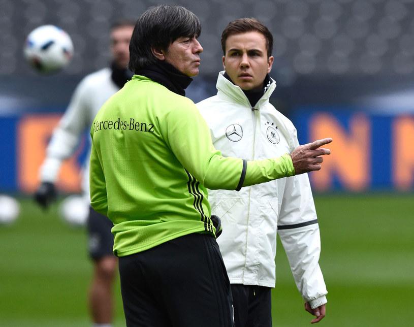 Joachim Loew i Mario Goetze /AFP