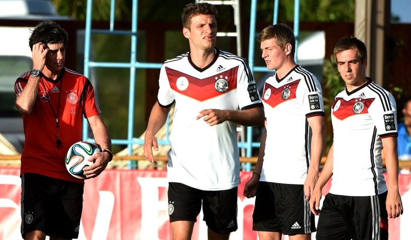Joachim Loew podczas treningu reprezentacji Niemiec /AFP