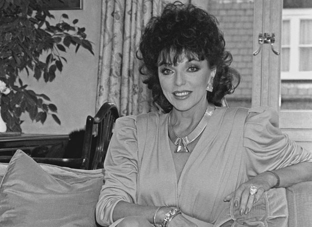 Joan Collins - październik 1984 roku /Getty Images