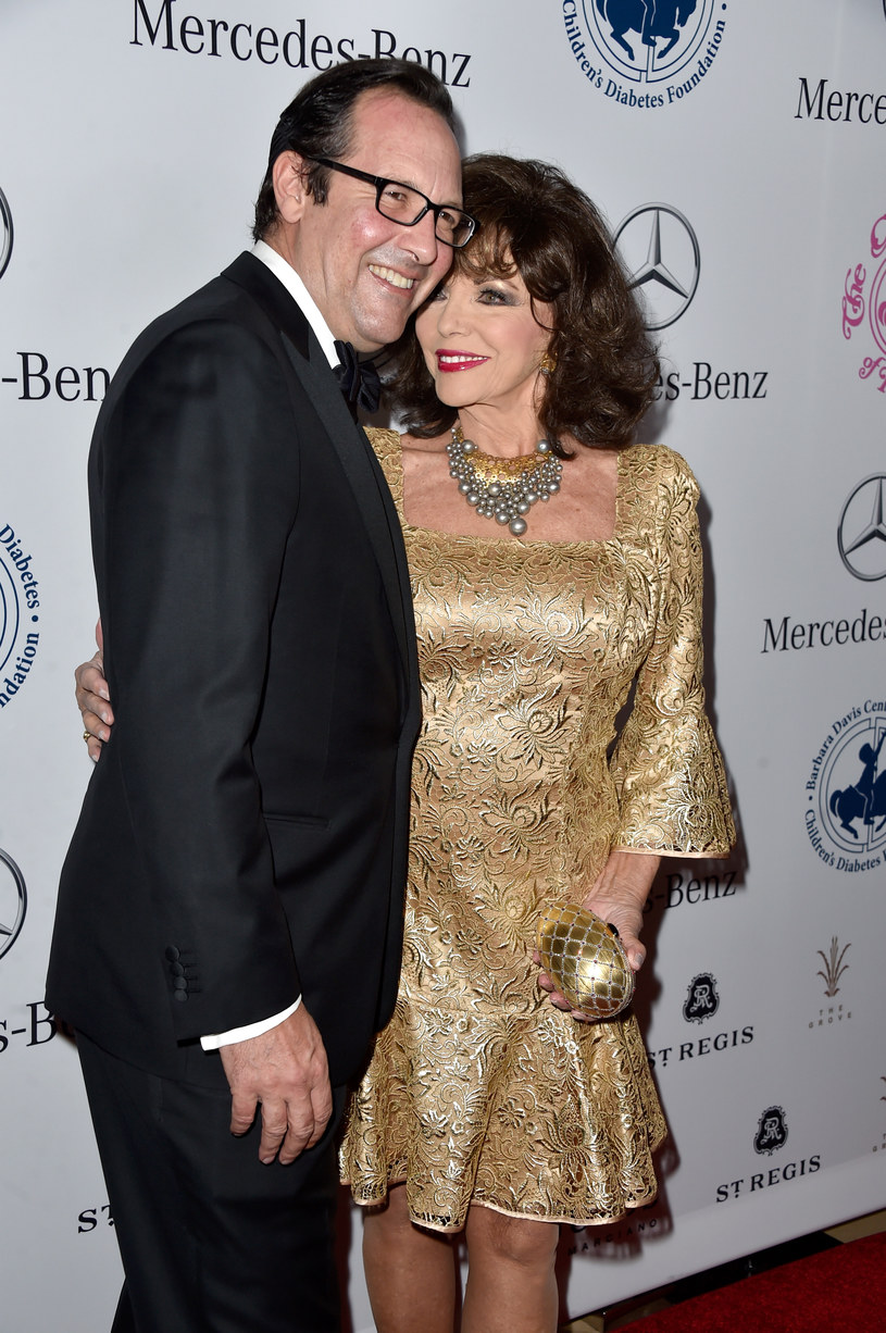 Joan Collins z mężem, Percym Gibsonem /Frazer Harrison /Getty Images