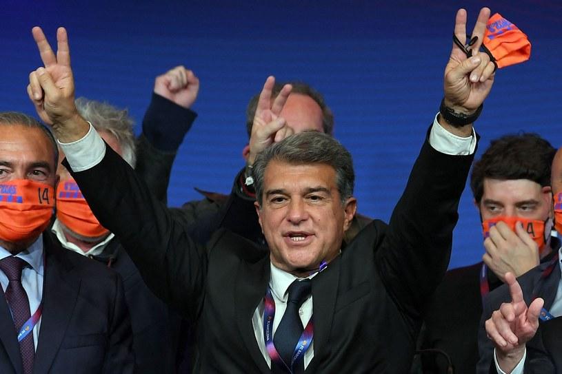 Joan Laporta, czyli stary-nowy prezes Barcelony /AFP