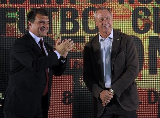 Joan Laporta (z lewej) i Johan Cruyff /AFP