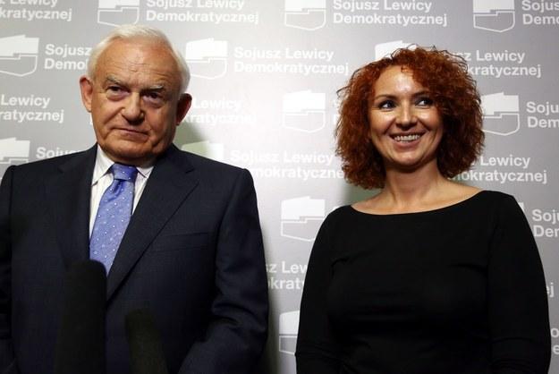 Joanna Agatowska i Leszek Miller /Tomasz Gzell /PAP
