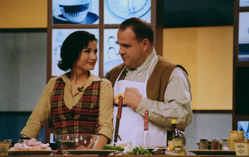 Joanna Brodzik i Cezary Żak w 2001 roku /Mikulski /AKPA