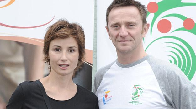 Joanna Brodzik i Paweł Wilczak / fot. Andras Szilagyi /MWMedia