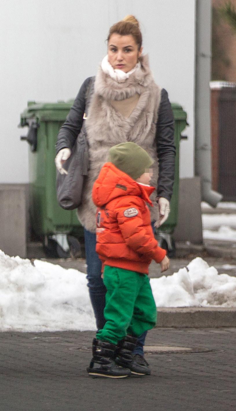 Joanna Brodzik z synem /Foto IP