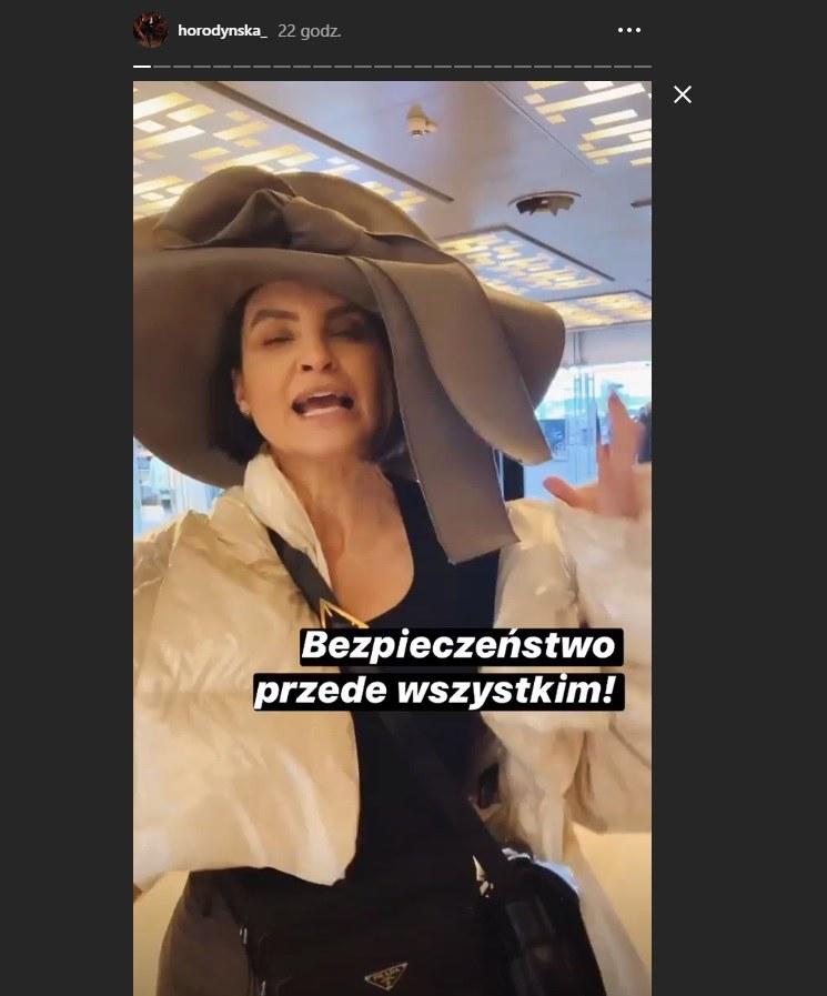 Joanna Horodyńska w wielkim kapeluszu w Mediolanie /Instagram /Instagram