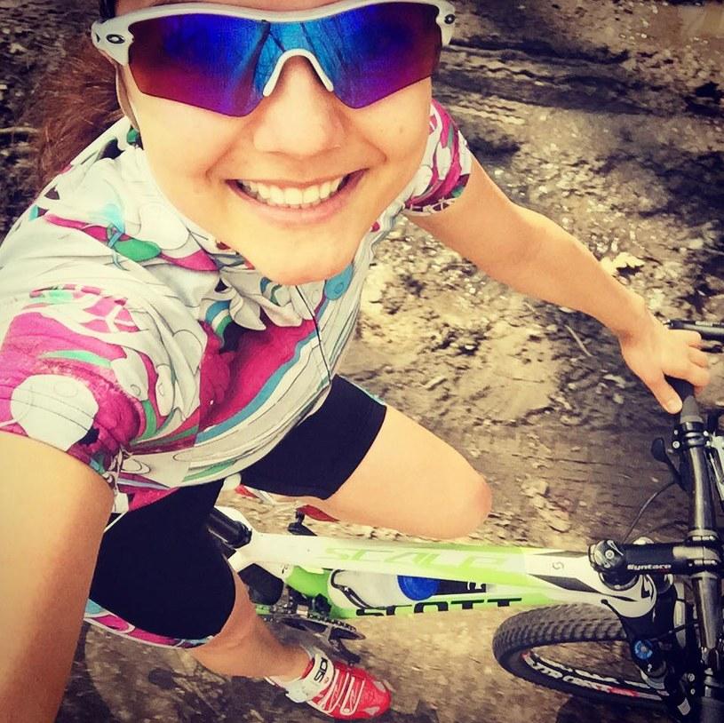 Joanna Jabłczyńska trenuje kolarstwo. /Facebook /internet