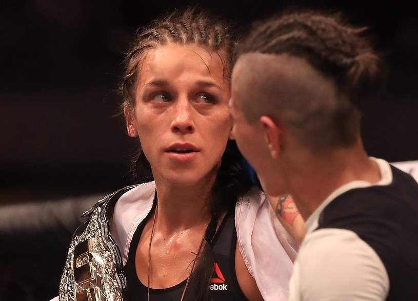 Joanna Jędrzejczyk na ringu /AFP