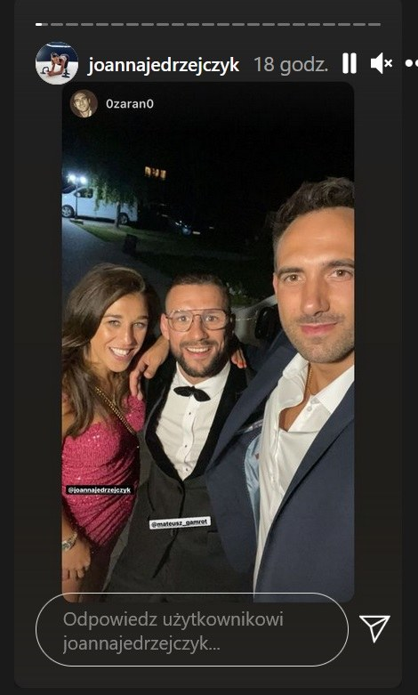 Joanna Jędrzejczyk na ślubie Mateusza Gamrota /Instagram