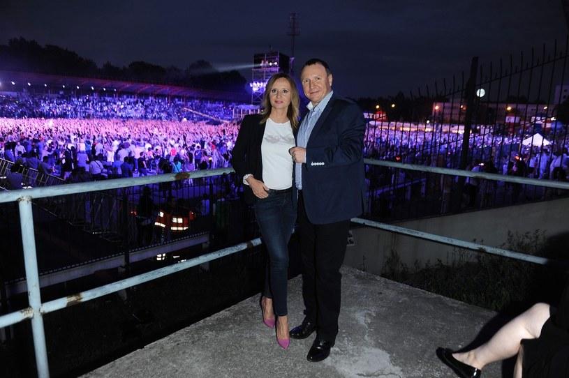 Joanna Klimek i Jacek Kurski podczas czerwcowej gali 25 lat disco polo /Dariusz Cisowski /East News